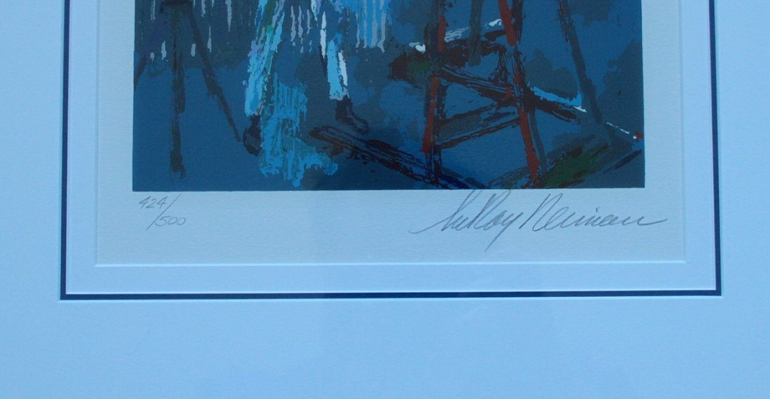 885Q: LEROY NEIMAN SELF PORTRAIT SIGNED LE FINE ART PRI