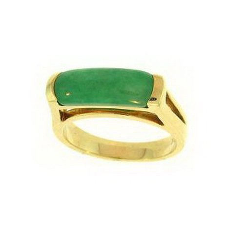 7K: NATURAL GREEN JADE RING