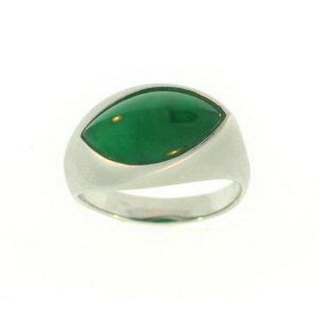 827K: NATURAL GREEN JADE RING