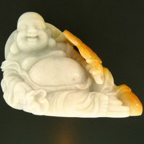 11Z: NATURAL YELLOW JADE STATUARY
