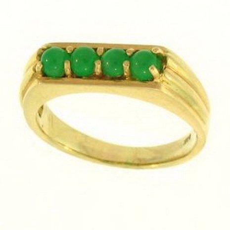 12K: NATURAL GREEN JADE RING