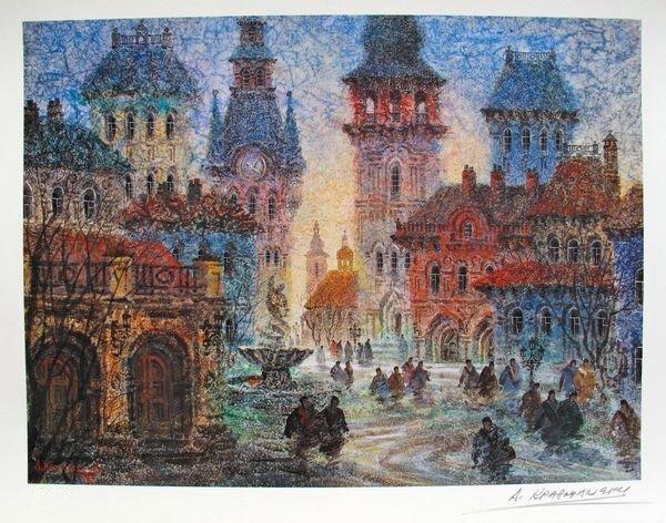 15T: ANATOLE KRASNYANSKY OLD CITY OF DANSK HAND SIGNED