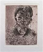 207T: PAUL CEZANNE HEAD OF A YOUNG GIRL RESTRIKE ETCHIN