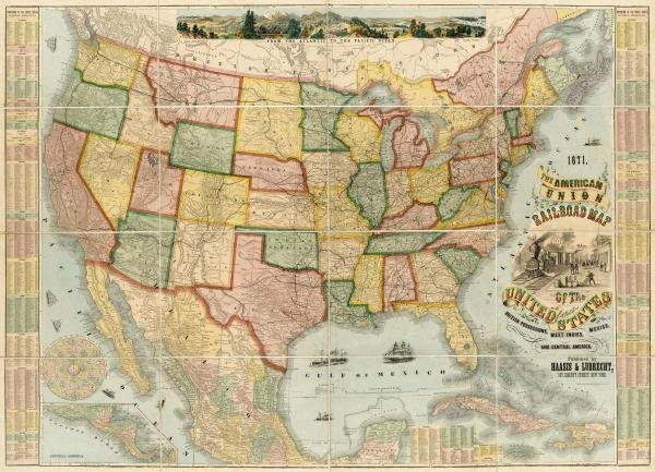 9B: HAASIS AND LUBRECHT - AMERICAN UNION RAILROAD MAP O
