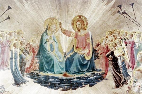 13B: FRA ANGELICO - CORONATION OF THE VIRGIN - DETAIL