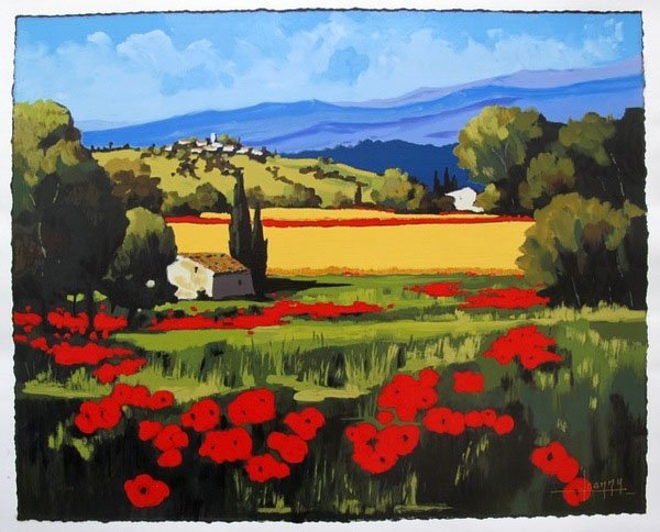 11T: JOANNY SUMMER POPPIES HAND SIGNED LIMITED ED GICLÉ