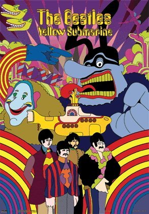 1373T: THE BEATLES YELLOW SUBMARINE 3D HOLOGRAM ART