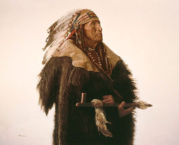 10W: James Bama - Crow Indian with Peace Pipe