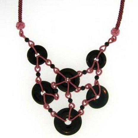 6K: Natural Black Jade Necklace