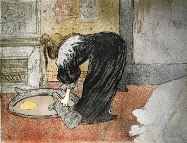 9B: HENRI TOULOUSE-LAUTREC - ELLES: WOMAN WITH A TUB
