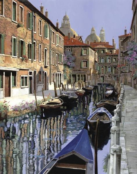 13B: GUIDO BORELLI - LA BARCHE SUL CANALE