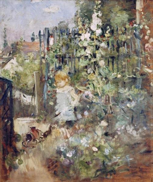 17B: BERTHE MORISOT - A CHILD IN THE ROSEBEDS