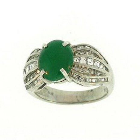 13K: NATURAL GREEN JADE RING