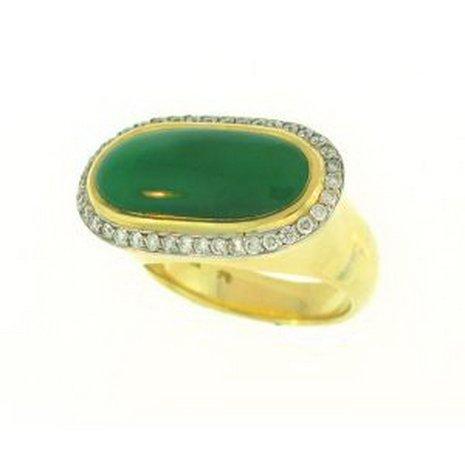 809K: NATURAL GREEN JADE RING