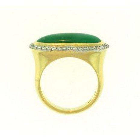809K: NATURAL GREEN JADE RING - 2