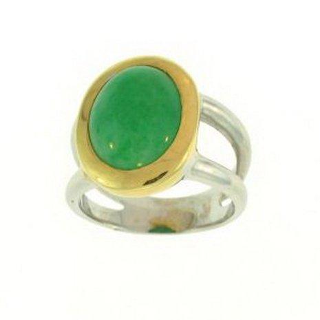 220K: NATURAL GREEN JADE RING
