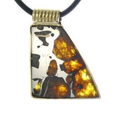 5F: Pallasite Meteorite in14kt Gold