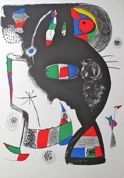 12T: JOAN MIRO 42 RUE BLOMET LTD EDITION LITHOGRAPH