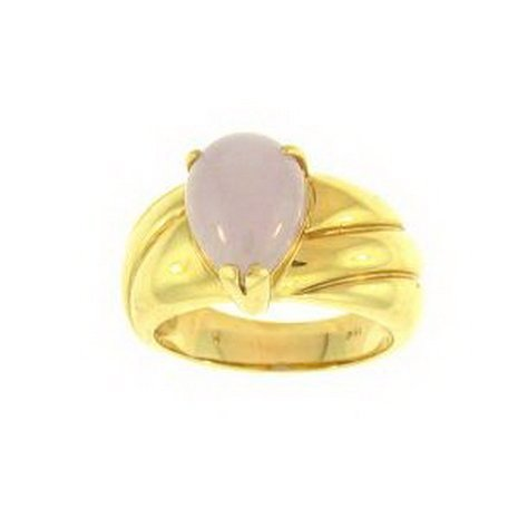 13K: NATURAL LAVENDER JADE RING