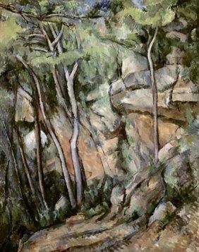 17E: PAUL CEZANNE - IN THE PARK OF CHATEAU NOIR