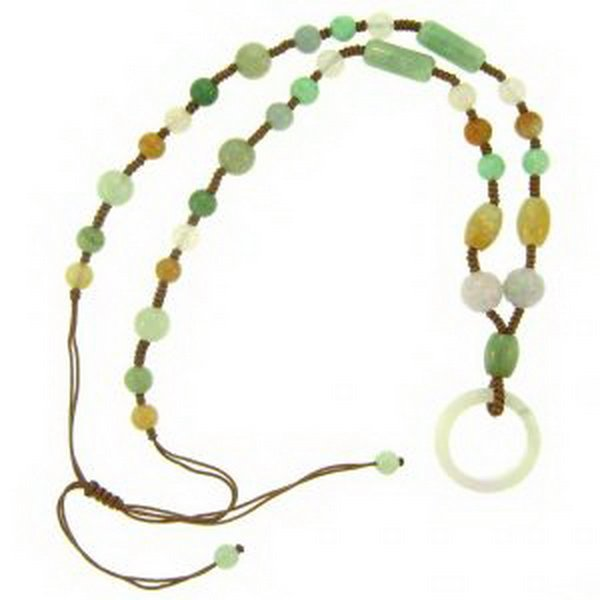 3K: NATURAL MULTI-COLOR JADE NECKLACE