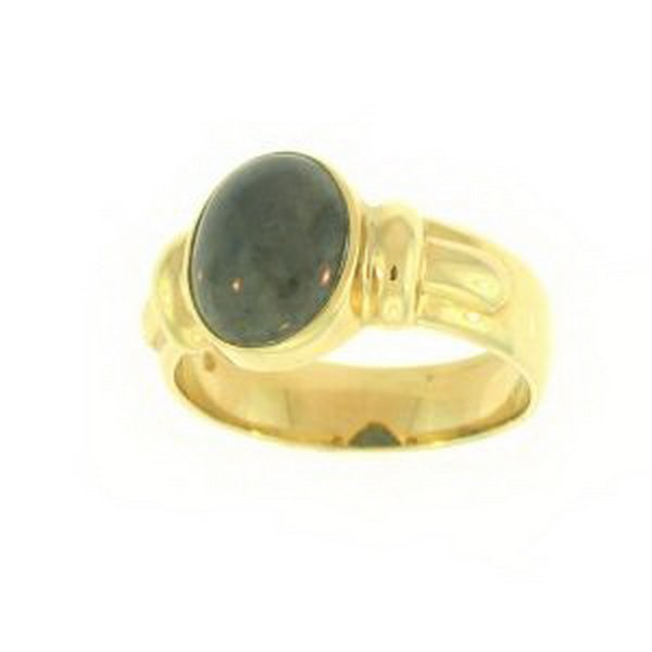 23K: NATURAL GREY JADE RING