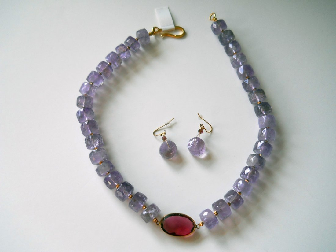 16Y: AMETRINE, 22K GOLD TOURMALINE - 1 OF A KIND