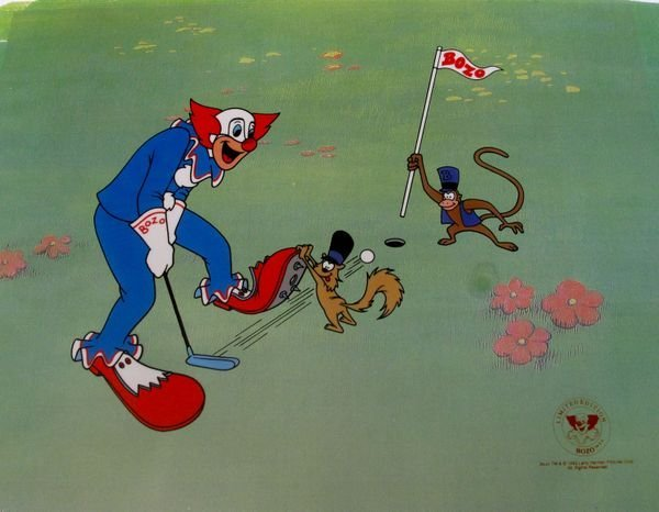 7O: BOZO THE CLOWN BOZO PLAYING GOLF ANIMATION SERICEL