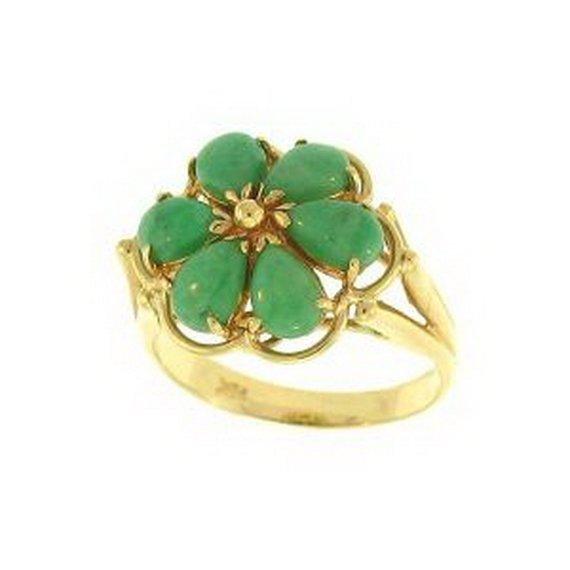 3K: NATURAL GREEN JADE RING