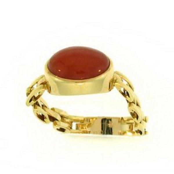 11K: NATURAL RED JADE RING