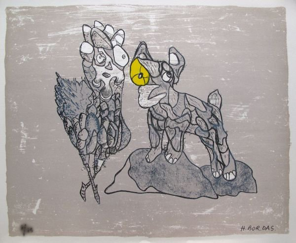 4T: HERVE BORDAS HOMAGE TO PICASSO HAND SIGNED LIMITED
