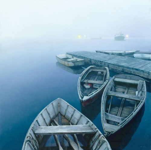 11W: Evening with Approaching Fog - by Mo Dafeng