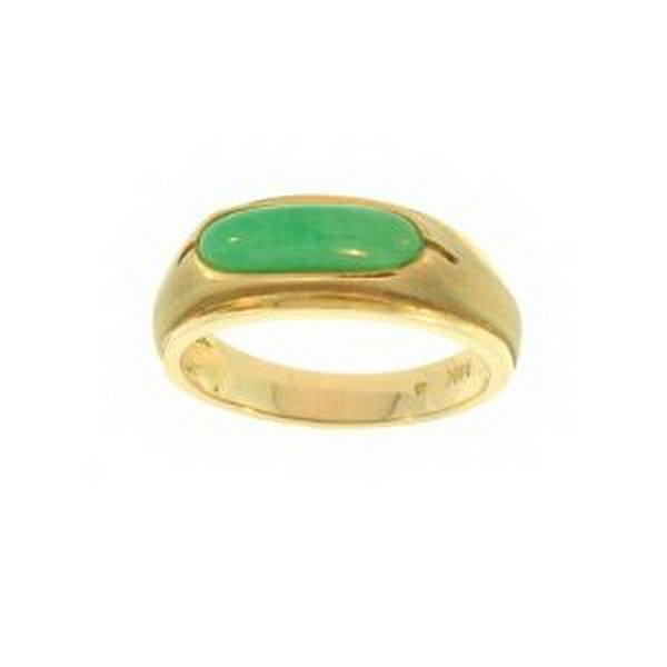 3K: NATURAL GREEN JADE RING
