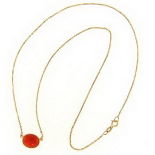 17K: NATURAL RED JADE NECKLACE