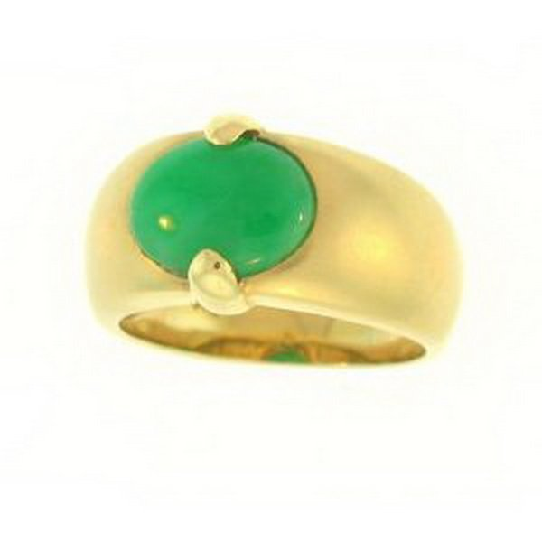 26K: NATURAL GREEN JADE RING