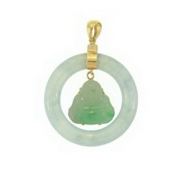 30K: NATURAL GREEN JADE PENDANT