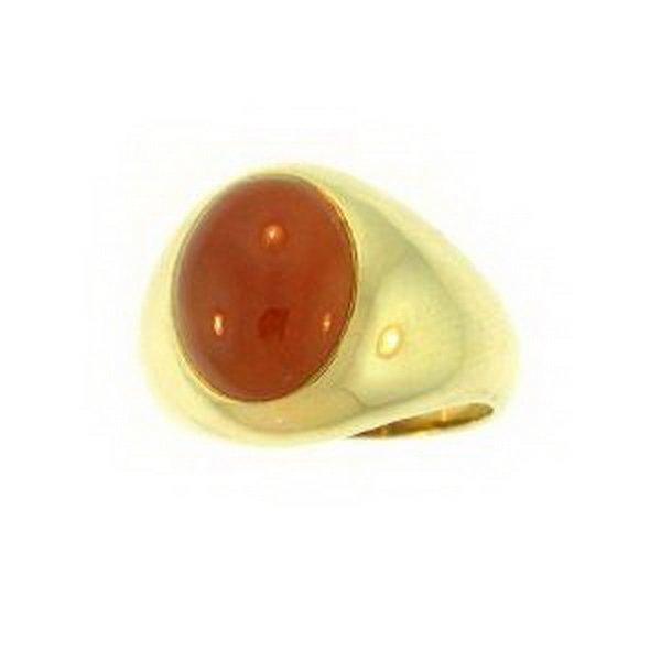 8K: NATURAL RED JADE RING