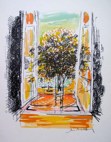 8T: MICHEL HENRY FLOWERS IN WINDOW SILL II LIMITED ED.