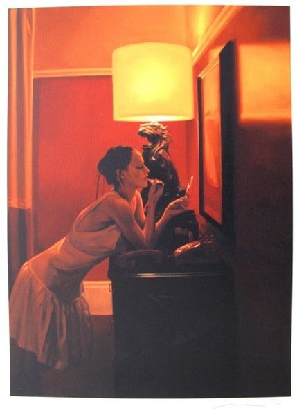 16T: CARRIE GRABER OFF THE HOOK HAND SIGNED GICLEE ON P