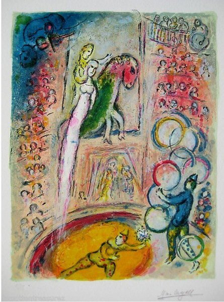 44T: MARC CHAGALL CIRCUS IV LIMITED ED. GICLEE