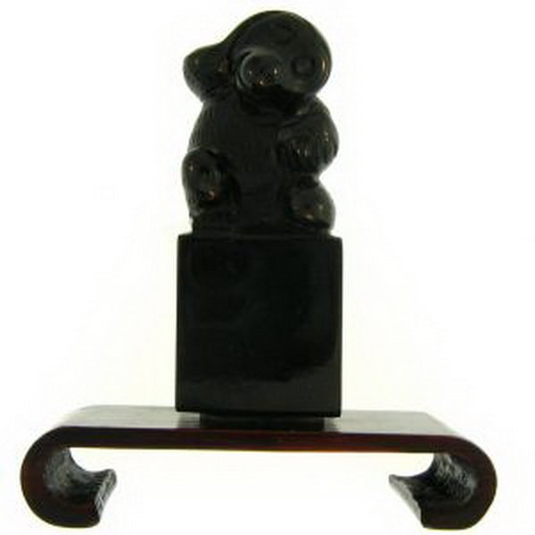 12K: NATURAL BLACK JADE STATUARY