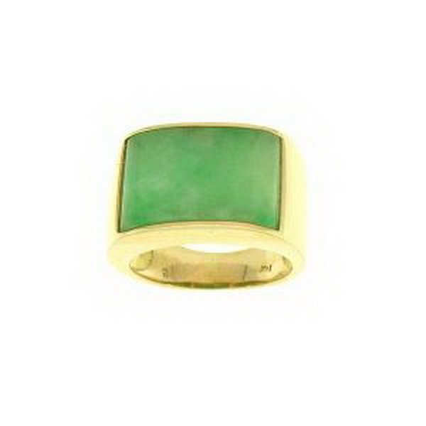 388K: NATURAL GREEN JADE RING