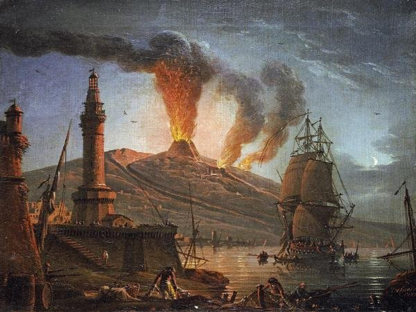 13O: CHARLES-FRANCOIS GRENIER - ERUPTION OF VESUVIUS AT