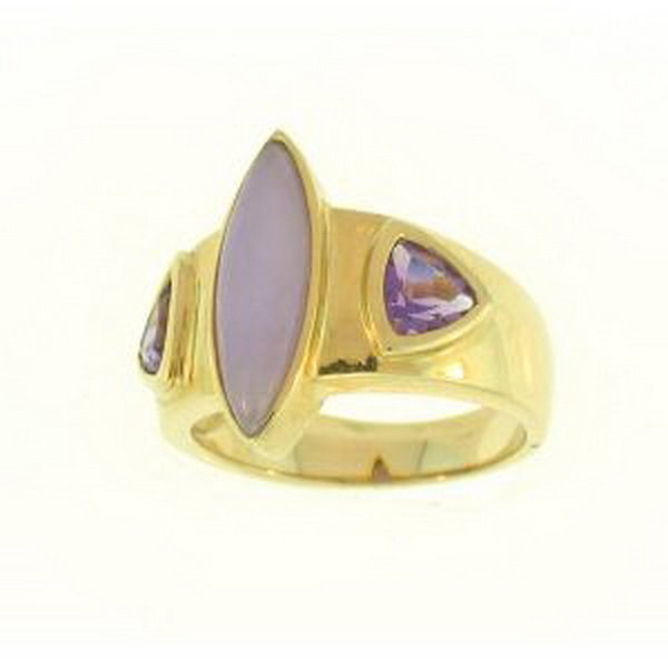 16S: NATURAL LAVENDER JADE RING
