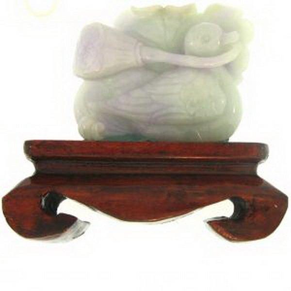 Natural Green Lavender Mix Jade Statuary