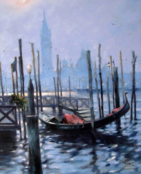 A. VAKHTANG GONDOLA AT EVENING TIME LIMITED ED. HAND SI