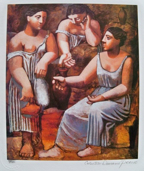 PABLO PICASSO THREE SISTERS ESTATE SIGNED LIMITED ED. S