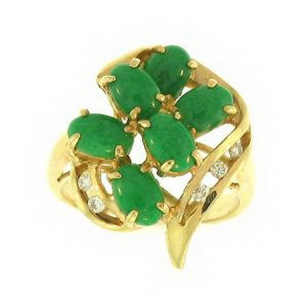 Natural Green Jade Ring