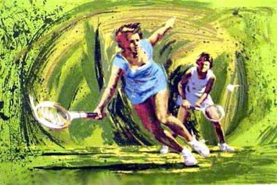HARRY SCHAARE TENNIS HAND SIGNED SERIGRAPH