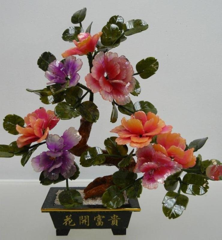 REAL JADE MIXED BONSAI FLOWER